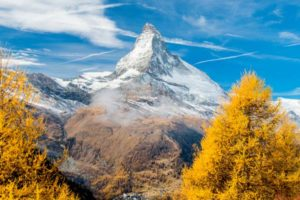 Swiss autumn landscape